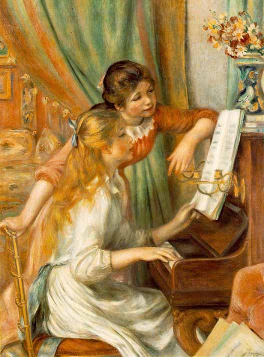 Jeunes filles au piano (1892) Renoir