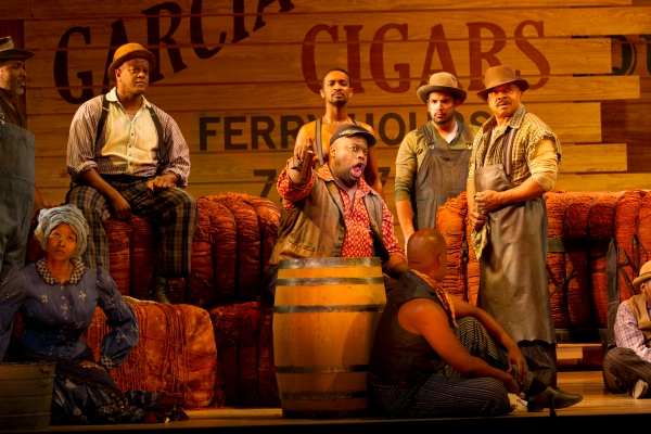 Morris Robinson as Joe and the company of Show Boat – Photo Credit: Scott Suchman