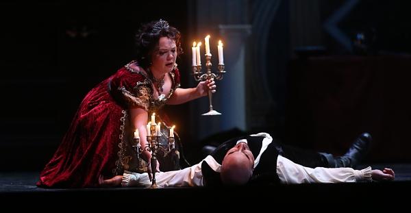 Lyric Opera Baltimore Tosca 2013 | Jill Gardner, Tosca; Raymond Aceto, Scarpia